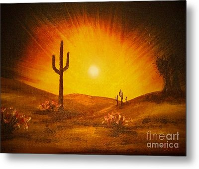 Desert Aglow Metal Print by Becky Lupe