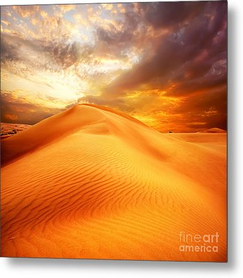Metal Print featuring the photograph Desert Art by Boon Mee