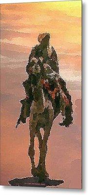 Metal Print featuring the digital art Desert. Bedouin. by Dr Loifer Vladimir