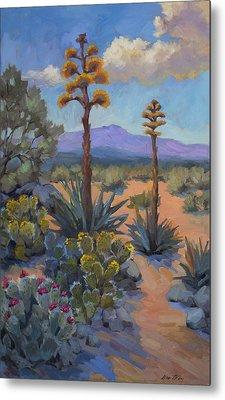 Desert Century Plants Metal Print by Diane McClary