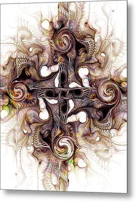 Desert Cross Metal Print