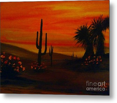 Desert Dance Metal Print by Becky Lupe