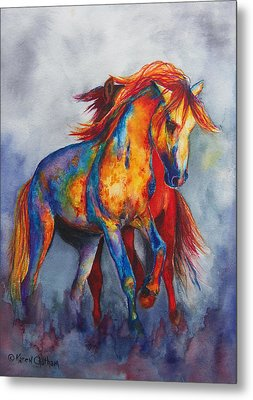 Metal Print featuring the painting Desert Dance by Karen Kennedy Chatham