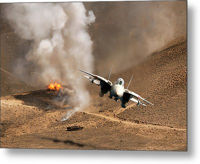 Desert Diamondback Metal Print by Peter Chilelli