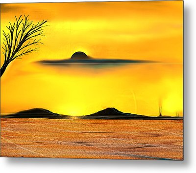 Desert Eclipse Metal Print by Yul Olaivar