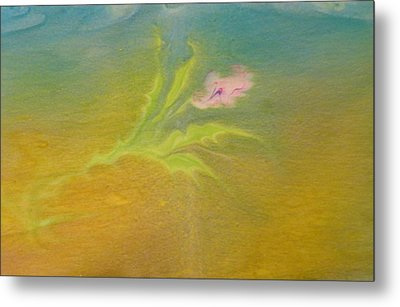 Metal Print featuring the painting Desert Flower by Mike Breau