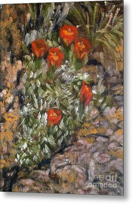 Desert Flowers Metal Print by Mukta Gupta