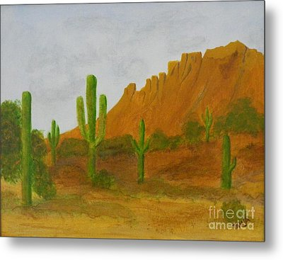 Desert Forest Metal Print