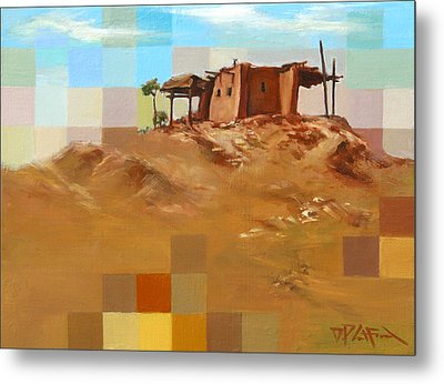 Metal Print featuring the painting Desert Hut by Dave Platford