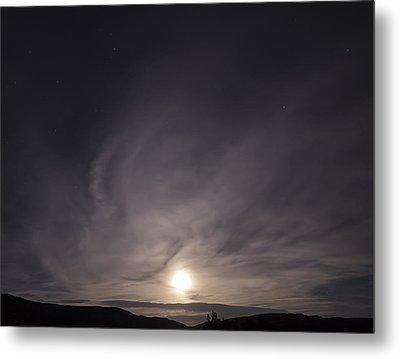 Desert Moon Rising Metal Print