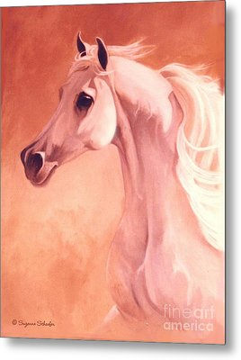Desert Prince Arabian Stallion Metal Print by Suzanne Schaefer