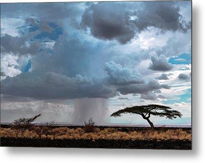 Desert Rainclouds Metal Print