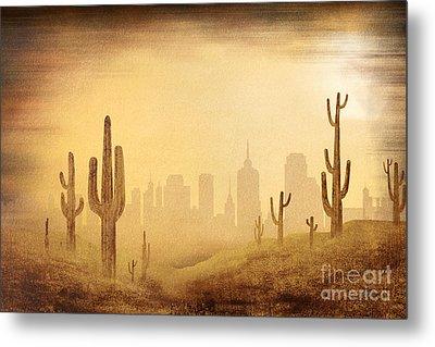 Desert Skyline Metal Print by Bedros Awak