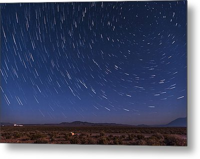 Desert Star Trails Metal Print by Cat Connor