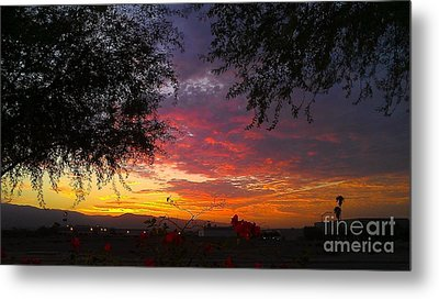 Desert Sunrise Metal Print by Chris Tarpening