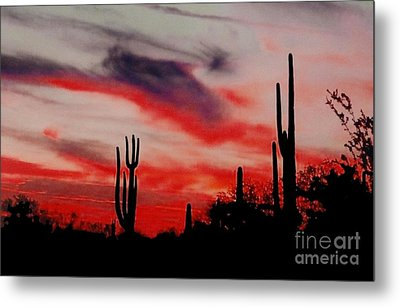 Desert Sunset Northern Lights Version 3 Metal Print by Joseph Baril