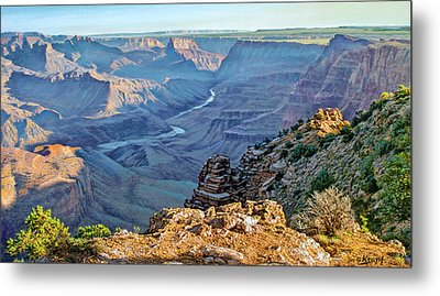 Desert View-morning Metal Print by Paul Krapf