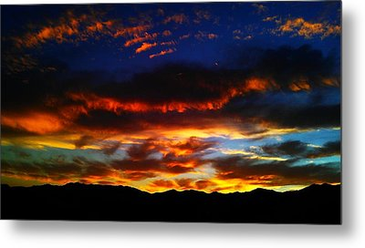 Desert Winter Sunset  Metal Print by Chris Tarpening