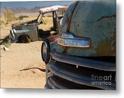 Metal Print featuring the photograph Desert Wrecks  by Juergen Klust