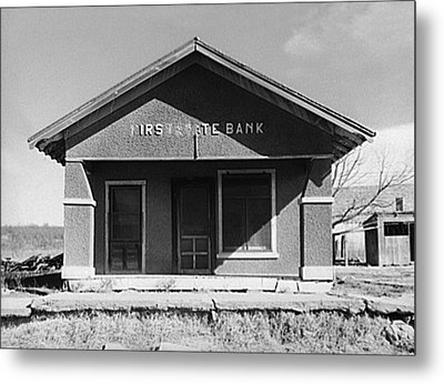 Deserted Bank Building Metal Print