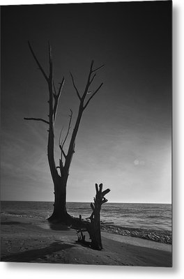 Deserted Beach Sunset Metal Print by Bradley R Youngberg
