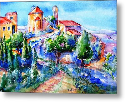 Deserted Village Of Perillos  Metal Print by Trudi Doyle