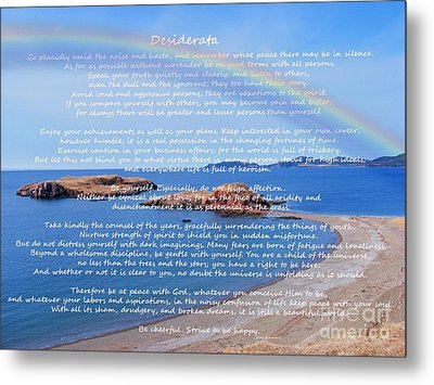 Desiderata  Metal Print by Barbara Griffin