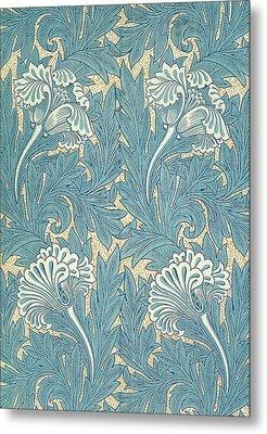 Design In Turquoise Metal Print by William Morris