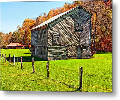 Designer Barn Metal Print by Steve Harrington