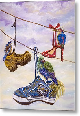 Designer Bird Nests Metal Print by Susan Culver