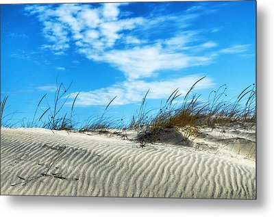 Designs In Sand And Clouds Metal Print by Gary Slawsky