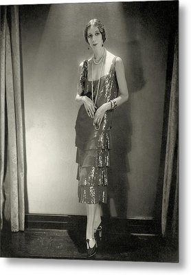 Desiree Lubowska Wearing A Chanel Dress Metal Print by Edward Steichen