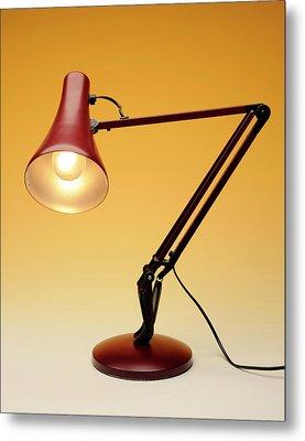 Desk Lamp Metal Print