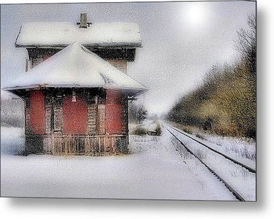 Desolate Depot Metal Print