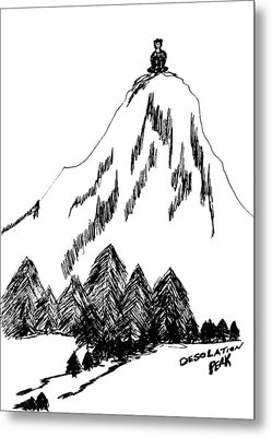 Desolation Peak_alone Time Metal Print by Donna Haggerty