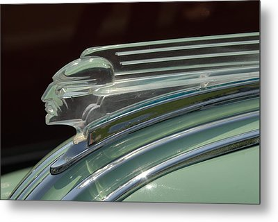 Metal Print featuring the photograph Desoto Hood Ornament  by Craig Perry-Ollila