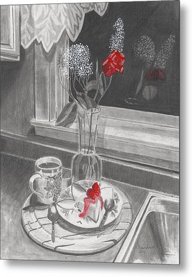 Dessert For Two Metal Print by Susan Schmitz