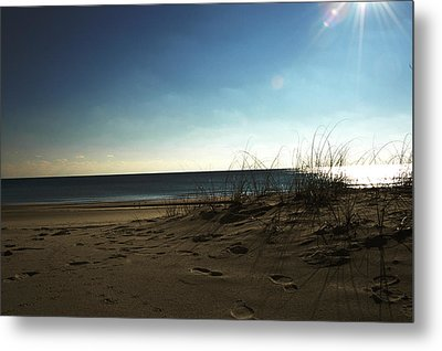 Destin Beach Sun Glare Metal Print
