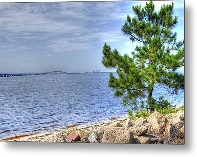 Destin Midbay Bridge Metal Print