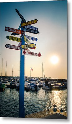 Metal Print featuring the photograph Destination Egg Harbor by Mark David Zahn