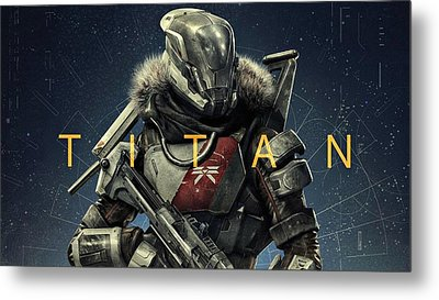 Destiny 2 Titan Metal Print by Movie Poster Prints