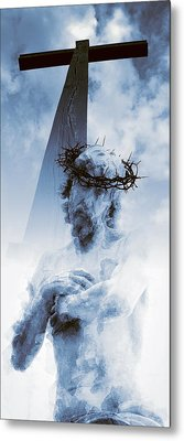 Destiny And Prophecy Blue Metal Print by Daniel Hagerman