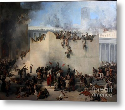 Destruction Of The Temple Of Jerusalem Metal Print by Celestial Images