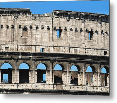 Detail Of Colosseum Facade Metal Print by Kiril Stanchev