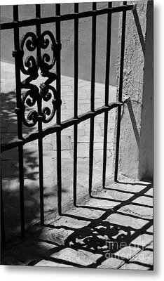 Detail Of Gate In Seville Metal Print by Cendrine Marrouat