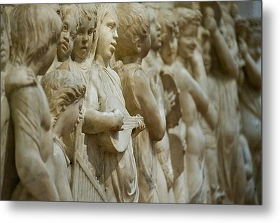 Detail Of Marble Relief, Florence Metal Print by Panoramic Images