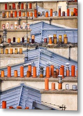 Detail Of Traditional Rooftops In Paris Metal Print