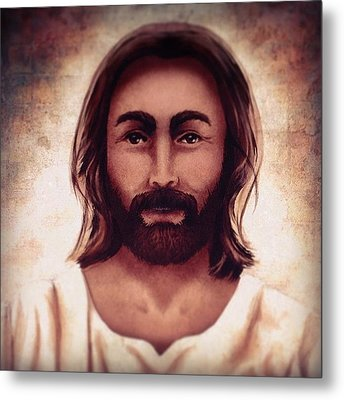 Portrait Of Jesus Metal Print by April Moen