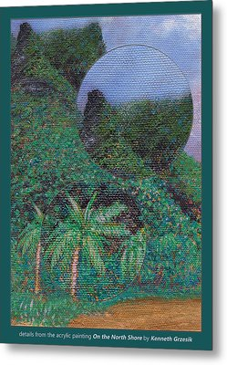 Details From On The North Shore Metal Print by Kenneth Grzesik