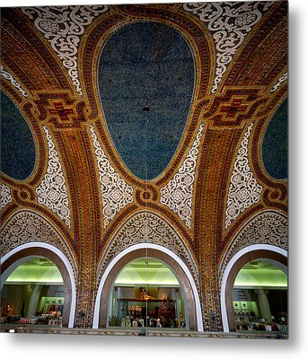 Details Of Tiffany Dome Ceiling Metal Print by Panoramic Images